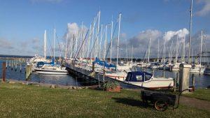 Rudkøbing har hele fem havne - denne er beregnet til lystbåde.