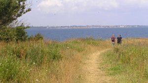 På spidsen af halvøen Ristinge - på Ristinge hale - kommer man meget tæt på Marstal.